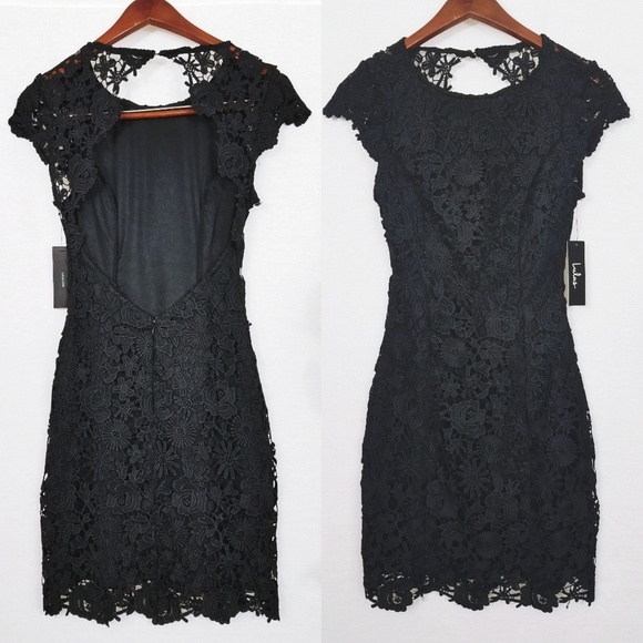 c999db4f3f84 Lulu's Dresses | Romance Language Black Backless Lace Dress | Poshmark
